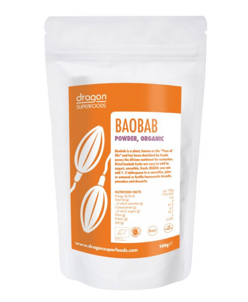 Baobab pulbere raw bio 100g 0