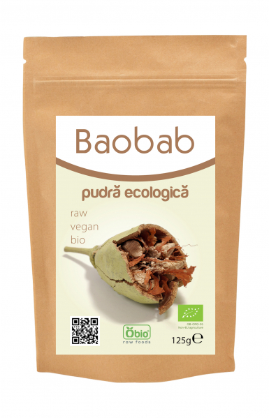 Baobab pulbere raw bio 125g 0