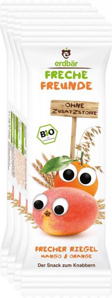 Baton de cereale cu mango si portocale bio 4 x 23g 0