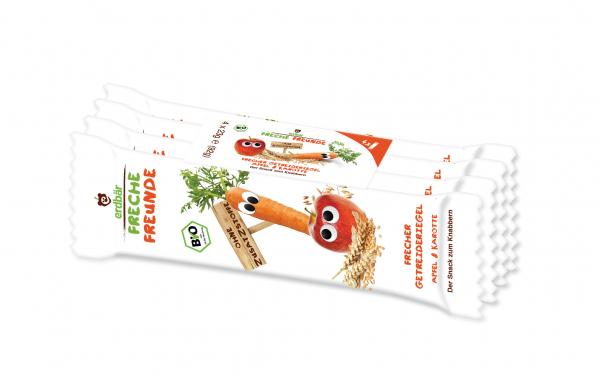 Baton de cereale cu mar si morcov bio 4 x 23g 0