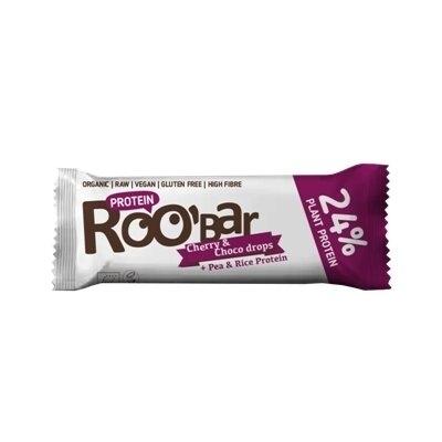 Baton proteic cirese ciocolata raw eco 40g Roobar 0