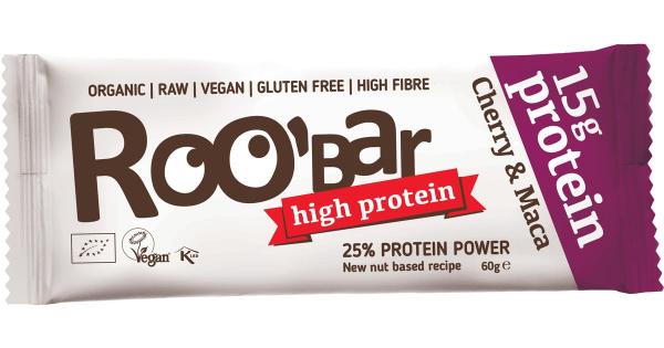 Baton proteic cu cirese si maca raw bio 60g 0