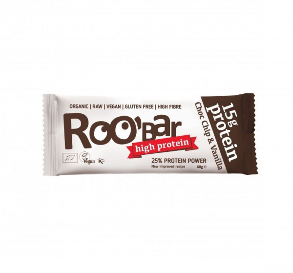 Baton proteic cu vanilie si ciocolata raw bio 60g 0