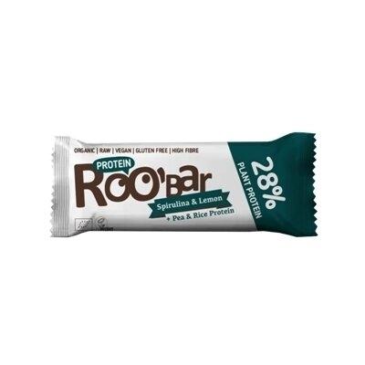 Baton proteic spirulina lamaie raw eco 40g Roobar 0