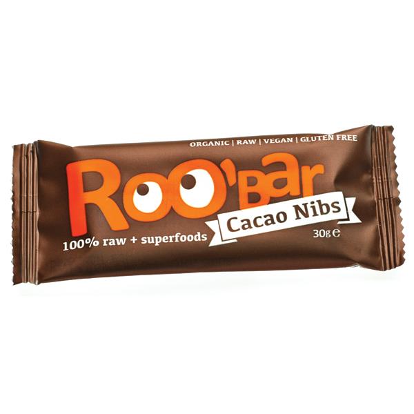 Baton raw bio cu miez de cacao si migdale 30g 0
