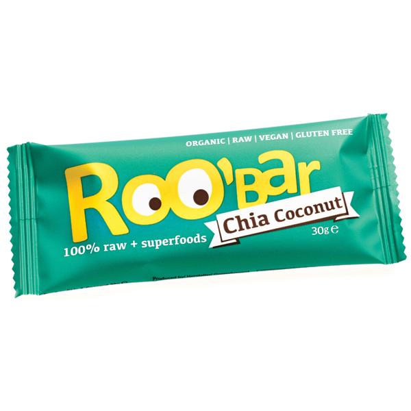 Baton Roobar chia + cocos raw eco 30g 0