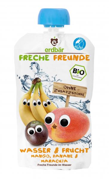 Bautura Apa & Fructe cu mango, banane si maracuja bio 200ml 0