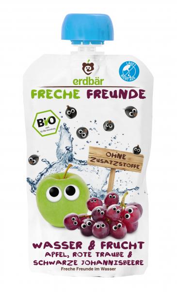 Bautura Apa & Fructe cu mere, struguri si coacaze negre bio 200ml 0