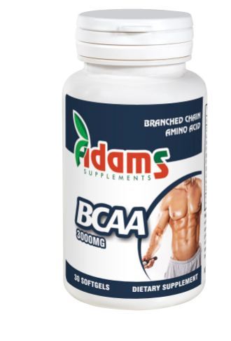 BCAA 3000mg, 30 tablete, Adams Vision 0