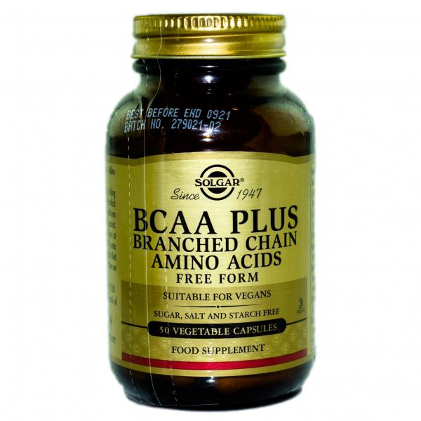 BCAA PLUS, 50 capsule, Solgar 0