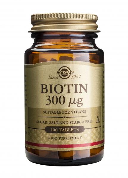 Biotin 300 mcg, 100 tablete, Solgar 0