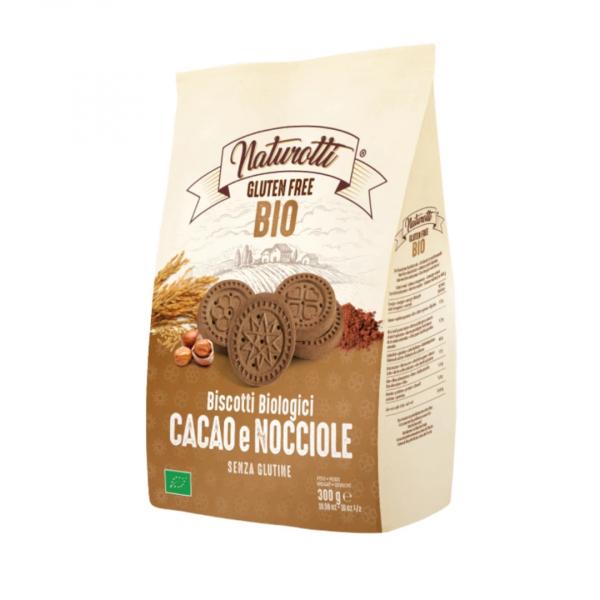Biscuiti cu cacao si alune de padure eco, fara gluten 300g Naturotti 0