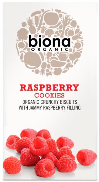 Biscuiti cu umplutura de zmeura bio 175g Biona 0