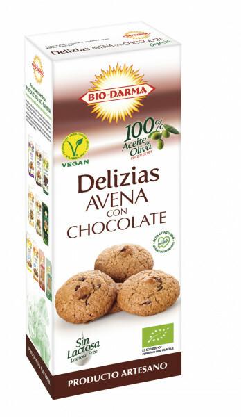 Biscuiti din ovaz cu ciocolata bio 125g Bio Darma 0