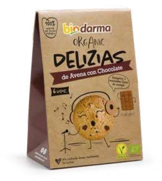 Biscuiti din ovaz cu ciocolata bio 45g Bio Darma 0