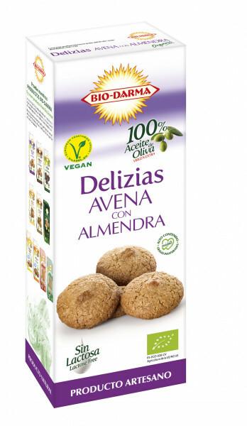 Biscuiti din ovaz cu migdale bio 125g Bio Darma 0