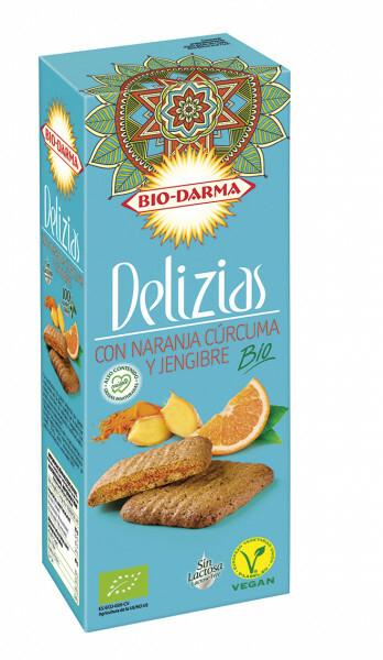 Biscuiti din ovaz cu portocale, turmeric si ghimbir bio 125g Bio Darma 0