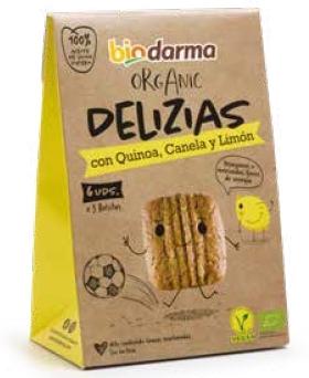Biscuiti din ovaz cu quinoa, scortisoara si lamaie bio 45g Bio Darma 0