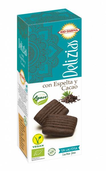 Biscuiti din spelta cu cacao, indulciti cu agave bio 135g Bio Darma 0