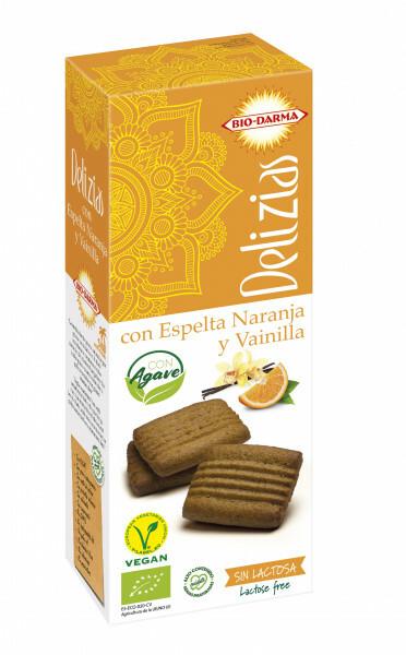Biscuiti din spelta cu portocale si vanilie, indulciti cu agave bio 135g Bio Darma 0