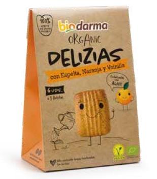 Biscuiti din spelta cu portocale si vanilie, indulciti cu agave bio 45g Bio Darma 0