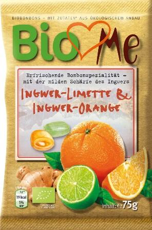 Bomboane bio cu ghimbir-lime si ghimbir-portocala 0