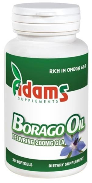 Borago oil 1000mg, 30 capsule, Adams Vision 1