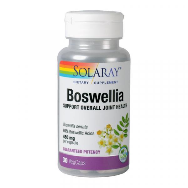 Boswellia 450 mg Solaray, 30 capsule vegetale, Secom 0
