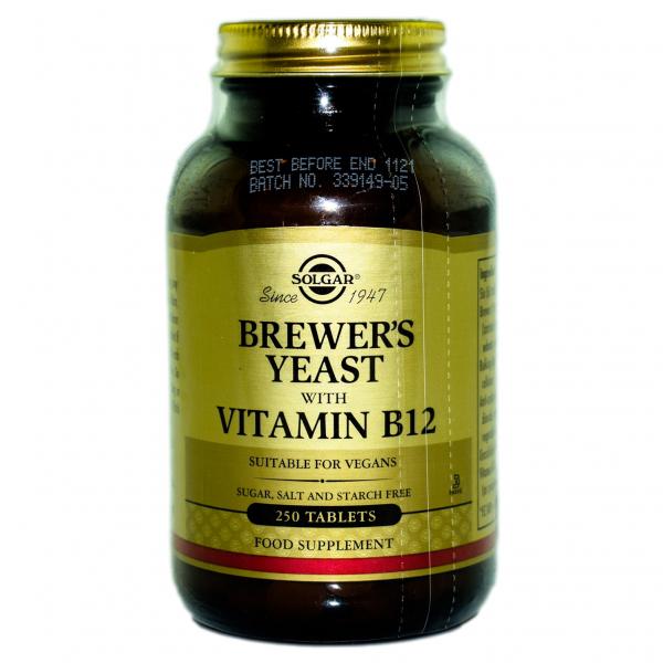Drojdie de bere cu Vitamina B12, 500mg 250cpr Solgar 0