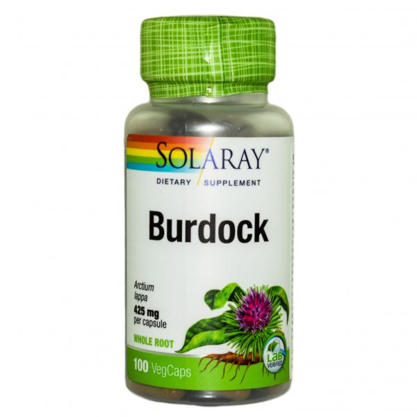 Burdock (Brusture) 425 mg Solaray, 100 capsule, Secom 0
