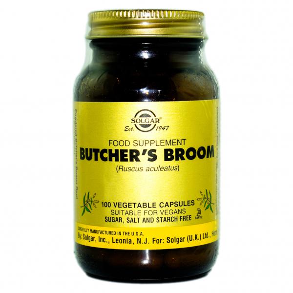 Ghimpe pădureț Butchers Broom, 100 capsule, Solgar 0