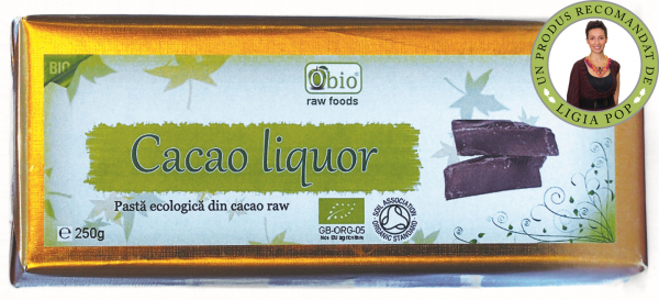 Cacao liquor raw bio 250g 0