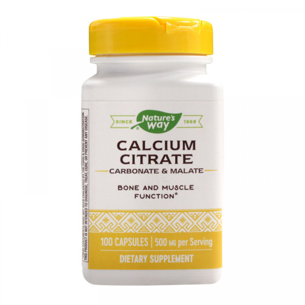 Citrat de Calciu Complex Nature's Way, 100 capsule, Secom 0