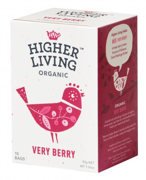 Ceai de fructe VERY BERRY eco, 15 plicuri, Higher Living 0