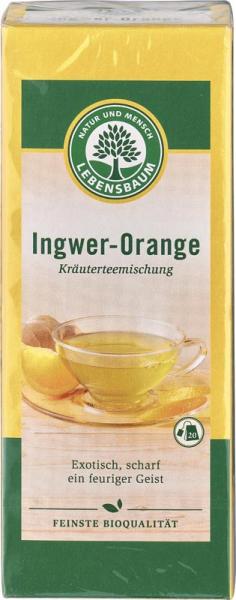 Ceai de ghimbir cu portocale bio 0