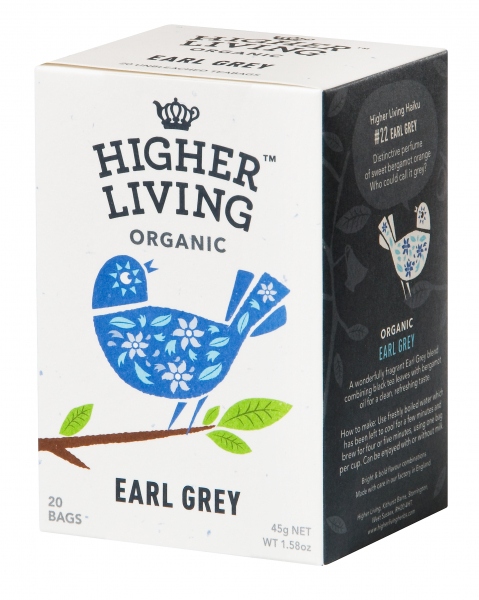 Ceai EARL GREY eco, 20 plicuri, Higher Living 0