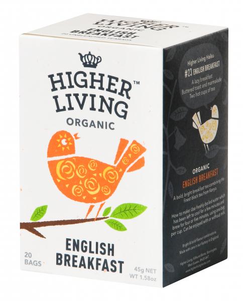 Ceai ENGLISH BREAKFAST eco, 15 plicuri, Higher Living 0