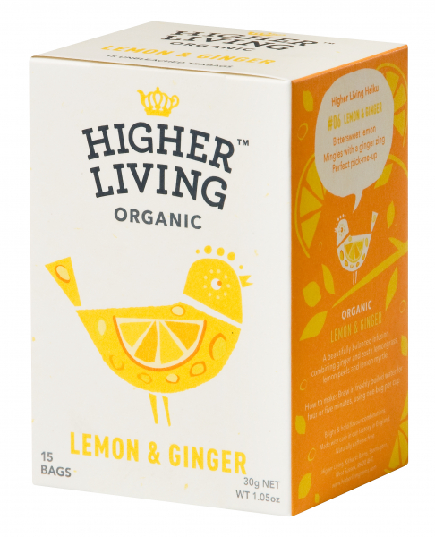 Ceai lamaie si ghimbir eco, 15 plicuri, Higher Living 0