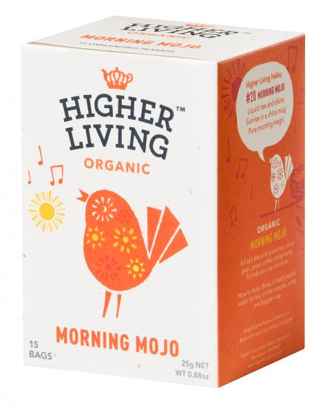 Ceai MORNING MOJO eco, 15 plicuri, Higher Living 0