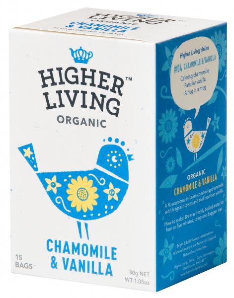 Ceai musetel si vanilie eco, 15 plicuri, Higher Living 0