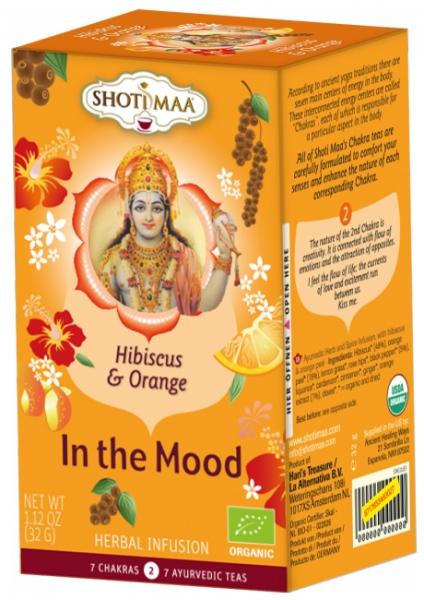Ceai Shotimaa Chakras - In The Mood - hibiscus si portocale bio 16dz 0