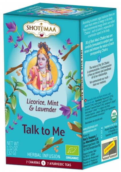 Ceai Shotimaa Chakras - Talk to Me - lemn dulce, menta si lavanda bio 16dz 0