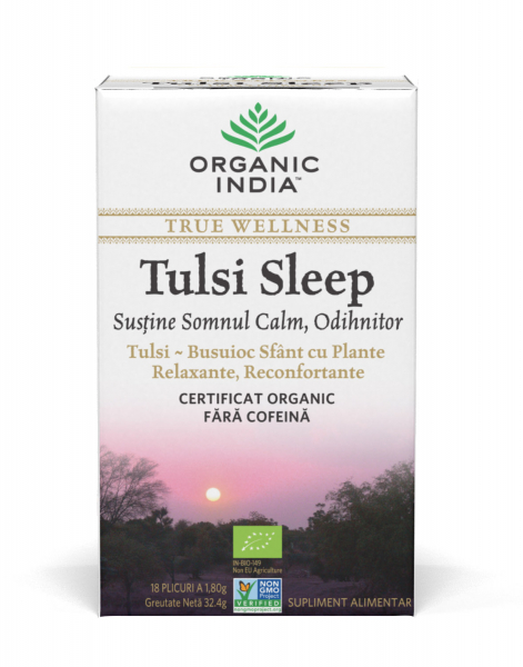 Ceai Tulsi Sleep cu Plante Relaxante, Reconfortante 0