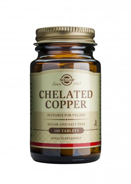 Cupru chelat 2.5 mg,100 comprimate, Solgar, 0