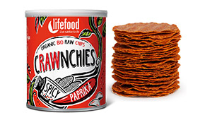 Chips Crawnchies cu boia spicy raw bio 30g 0