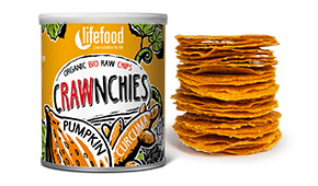 Chips Crawnchies cu dovleac si turmeric raw bio 30g 0