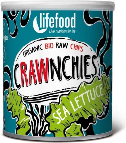 Chips Crawnchies cu sea lettuce (alge) raw bio 30g 0