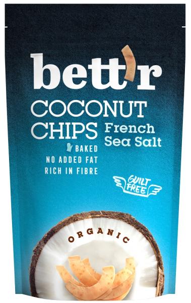 Chips de cocos cu sare bio 70g Bettr 0