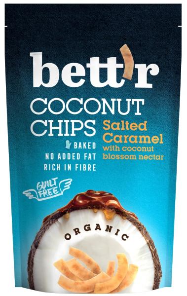 Chips de cocos si caramel sarat bio 70g Bettr 0