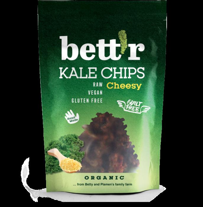 Chips din kale cu aroma de branza raw eco 30g Bettr 0
